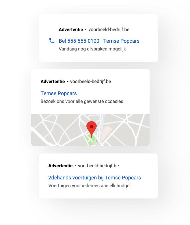 Google Ads marketing voorbeeld