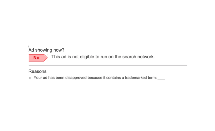 Trademarks Google Ads