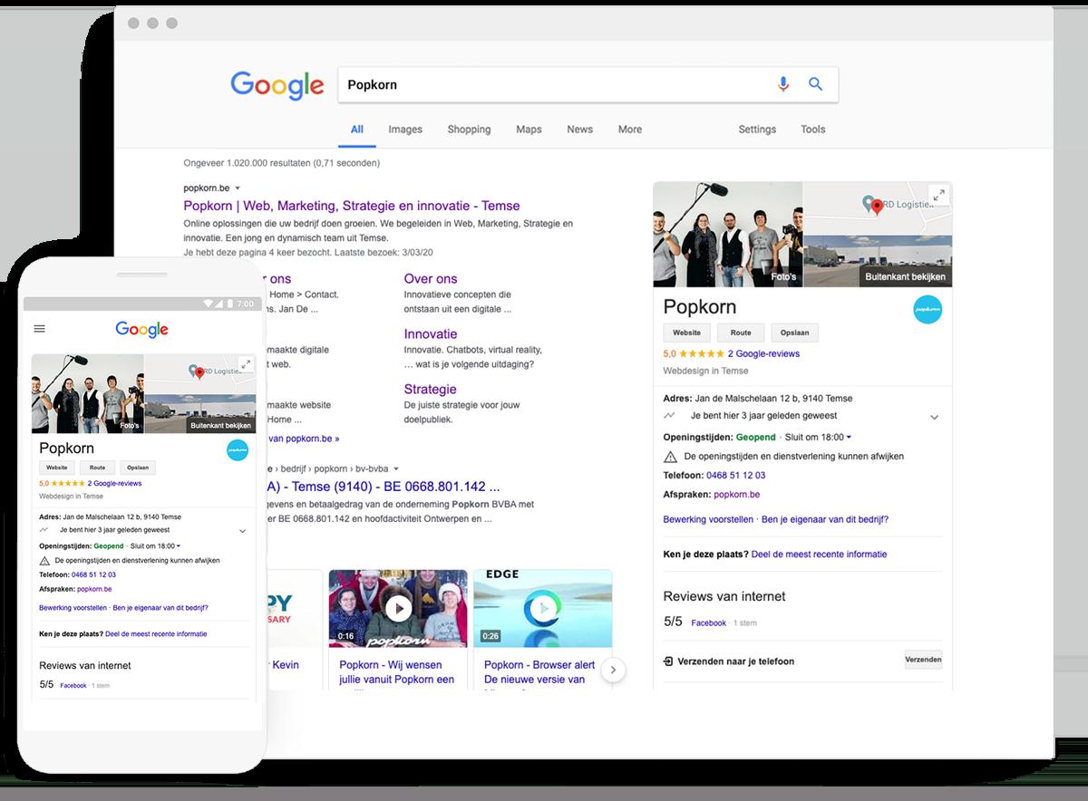 Google My Business Popkorn profile