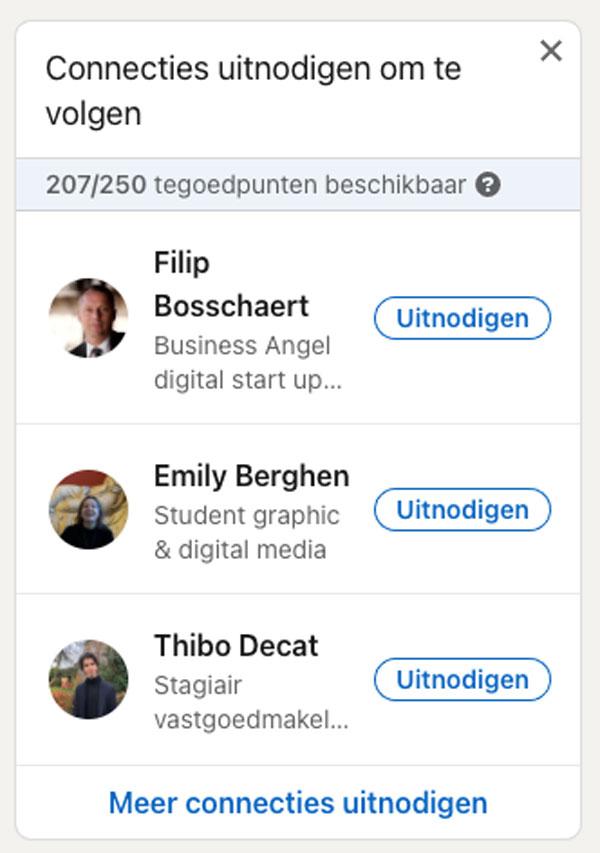 LinkedIn connecties uitnodigen