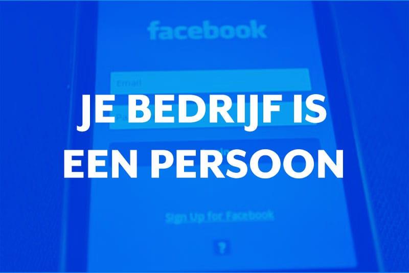Blog thumbnail Behandel je bedrijf als een persoon op Social Media