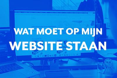 Blog thumbnail Wat moet er op mijn website staan?