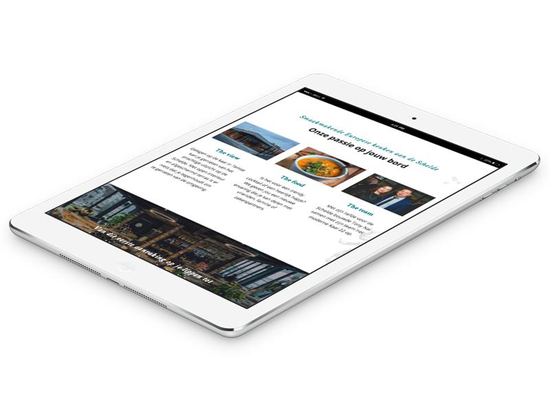 Kaai22 website foto in iPad