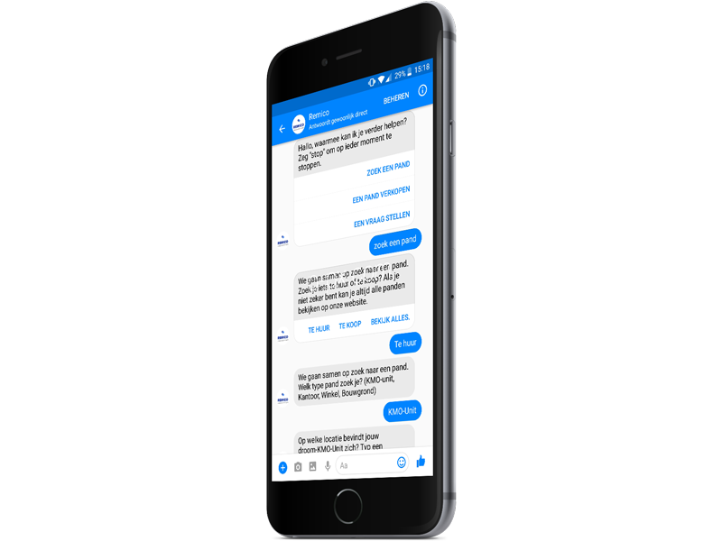 Remico chatbot in messenger