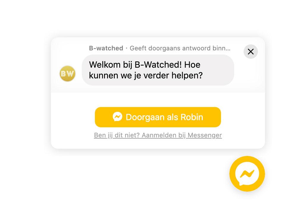 Messenger on website