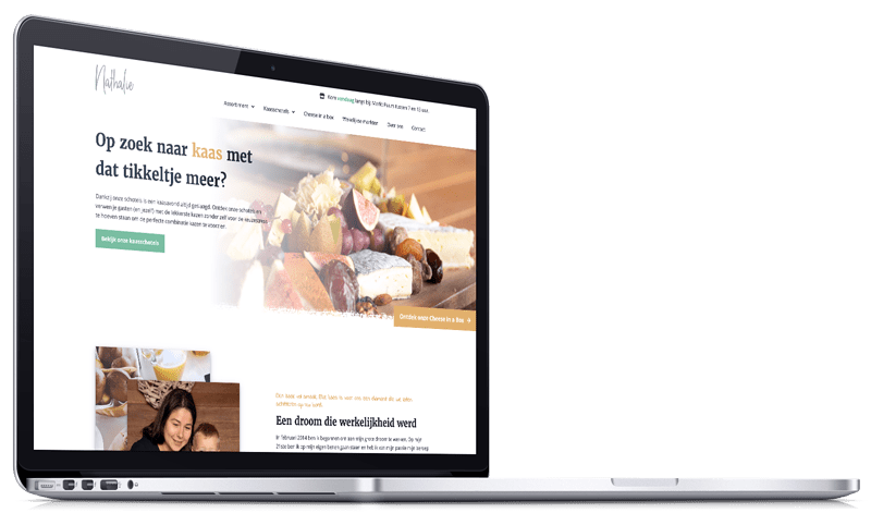 Website Kaas en Zuivel Nathalie